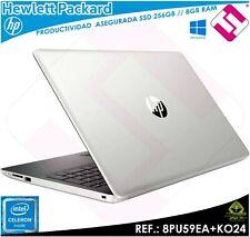 PORTATIL 15,6 TELETRABAJO HP 15DA0251NS SSD 256GB RAM 8GB PROCESADOR N4000 INTEL