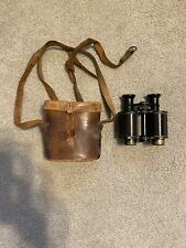Antique English Binoculars! Excellent Condtion With Original Leather Case 8X!