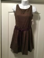 Girls POLO Ralph Lauren Brown Multi Color Plaid Sleeveless Lined Size 14