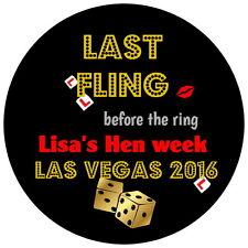 24 GALLINA ULTIMA AVVENTURA prima l'anello, Las Vegas Gloss PARTY ADESIVI