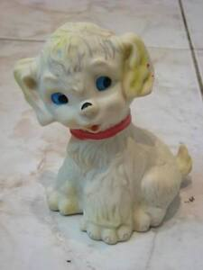 WHITE PUPPY RUBBER DOLL BY RUBBERTOYS ITALY 1950´S