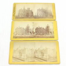 American Places Antique Set of 3 Stereoscope Colorized Photo Slide Cards