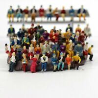 50pcs HO Scale 1:87 Model People Train Street Sitting Figures Miniature Scenes