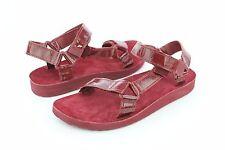 Teva Original Universal Patent Leather Fired Brick Sandals Womens Size 6 US