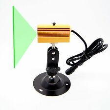 532nm 50mW Green Line Laser Module w/ bracket/120° Fan Angle/w/ heatsink&PSU