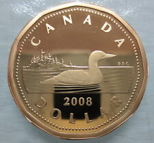 2008 CANADA LOONIE PROOF ONE DOLLAR HEAVY CAMEO COIN
