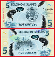 SOLOMON SALOMON ISLANDS 5 Dollars dolares 2019 Polymer Pick NEW SC UNC