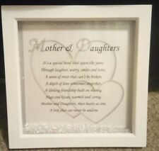 Framed mother / daughter gift - Christmas, Birthday , Mothers Day etc