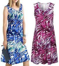 Linen Plus Size Floral Casual Dresses for Women