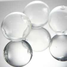 4pcs Hand Blown Hollow Glass Beads-Round Clear Two Hole 30mm (X-Large) (17H4)