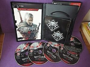 The Witcher 3 Wild Hunt PC DVD-Rom Game + Bonus Content 5 Disks + Map + Stickers
