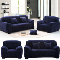 Stretch Thick Sofa Cover 1 2 3 4 Seater Couch Protector Velvet Plush Slipcover