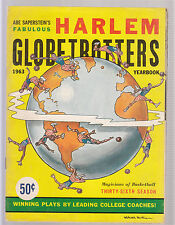 Harlem Globetrotters 1963 Yearbook World Tour Excellent Condition