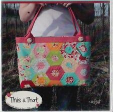 PATTERN - Hexie Happy Bag - fabulous pieced bag PATTERN - This & That