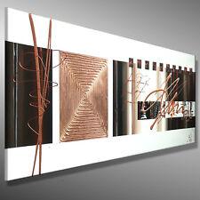 Abstrakte Malerei GEMÄLDE Acryl ORIGINAL Kunst C. GOETHE 120x40 XL Bild modern