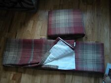 "NEXT RED STIRLING CHECK WOVEN PENCIL PLEAT LINED CURTAINS  66"" X 90"""