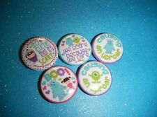 """Monsters Inc Boo Sulley Mike Decoden Kawaii 1"""" Craft Circles Flat-back Button"""