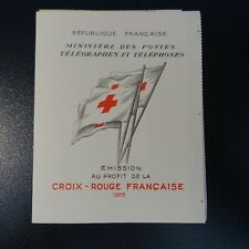 CARNET CROIX ROUGE RED CROSS 1955 N°2004 NEUF ** LUXE MNH COTE 450€