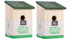 Wooden Nesting Box Bird Nest House Small Birds Robin Sparrow Bluetit Traditional
