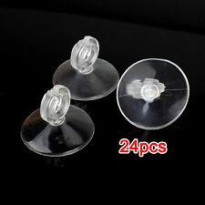 24 Pezzi Ventosa Trasparente con Clip PVC per Tubo Acquario HK