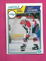 1983-84 OPC # 376 CAPITALS SCOTT STEVENS ROOKIE VG+ CARD (INV# C8306)