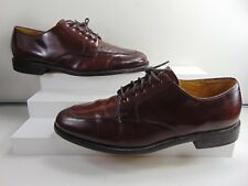 COLE HAAN BROWN POLISHED LEATHER LACE UP OXFORD 8 1/2 M $198.00!