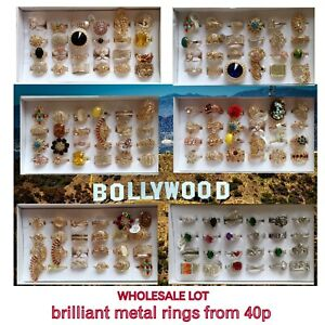40p wholesale imitation BLING RINGS bollywood brilliant sell online realistic