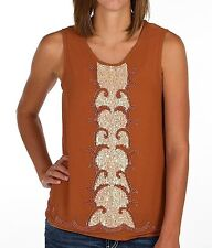HAZEL CHIFFON TANK TOP FROM BUCKLE with BEADING AND SEQUINS / Med / BNWOT