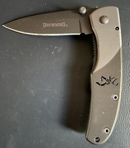 Browning Mountain Titanium Framelock Pocket Knife Drop Point Blade