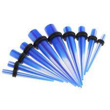 Stretcher Expander Taper Plug Piercing 10pcs/Lot Gradient Blue Acrylic Ear