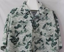 Claudio Nucci Hawaiian Shirt Tiki Hut Palm Trees Beach Aloha Friday 3XL