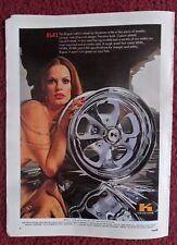 1973 Print Ad Keystone Rogue Custom Wheels ~ Sexy Girl Like Fine Jewelry Piece