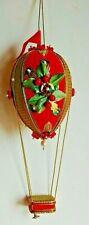 House of Murat Christmas Beaded Hot Air Balloon Music Box Ornament Palm Beach