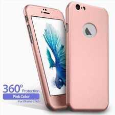 "360 Funda Carcasa Case + Protector Cristal Templado Para iPhone 6 6s 4.7"" Rosa"