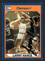 Larry Nance signed autograph auto 1990 Clemson Collegiate Collection Card