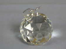 NEW NIB, Crystal World Small Apple #467-A, MINT, Great Gift For Teacher!