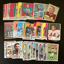Vintage Football 100 Card Lot w/ Rookies & HOF Stars Fran Tarkenton & More