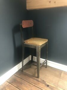 Vintage Industrial Bar Stool Work Bench