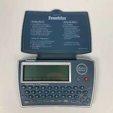 Franklin Merriam Webster Mwd-1450 Handheld Dictionary Thesaurus Word Builder