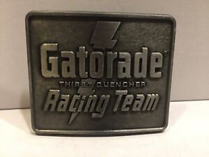 vintage BELT BUCKLE -- GATORADE THIRST QUENCHER RACING TEAM Indy 500 Nascar cars