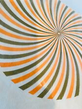 """Vintage NIP Paper Tablecloth Unused Mod Design Psychedelic 54""""x104"""" by Contempo"""
