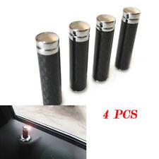 4PCS Real Carbon Fibre Universal Car Truck Interior Door Lock Knob Pull Pin Well