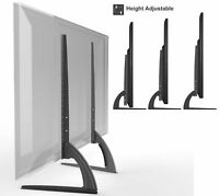 Universal Table Top TV Stand Legs for Sony KDL-55W800B Height Adjustable