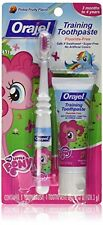 5 Ct Orajel Toddler My Little Pony Training Toothpaste/Toothbrush Pinky Fruity