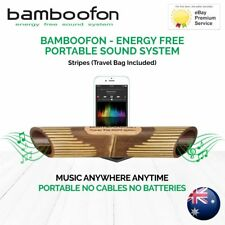 BambooFon - Energy Free Portable Sound System - Stripes (Travel Bag Included)