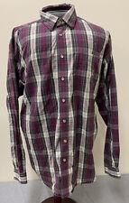 Cinch Western Shirts Mens Size Large Multicolor Plaid Long Sleeve Shirt Free Shp