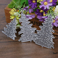 3pcs Christmas Tree Metal Die cutting DIY Scrapbooking Embossing Stencil Decor