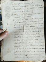 1665 267) MANOSCRITTO DA VALLE DI ARQUA' PADOVANO COPIATO NEL 1823 CARTA BOLLATA