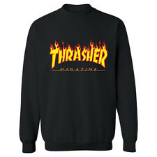 Men's Hoodie Sweater Hip-hop Skateboard Thrasher Women Pullover Sweatshirts Coat