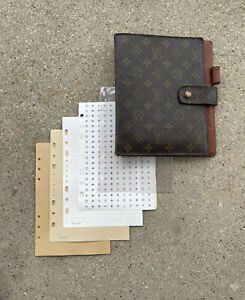 Louis Vuitton GM Agenda Large A5 Planner Cover Diary Journal Notebook Stickers